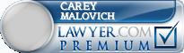 Carey E Malovich  Lawyer Badge