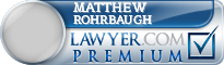 Matthew E Rohrbaugh  Lawyer Badge