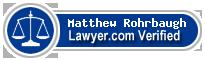 Matthew E Rohrbaugh  Lawyer Badge