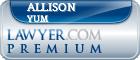 Allison P. Yum  Lawyer Badge