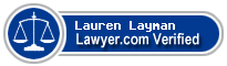 Lauren Kirsten Layman  Lawyer Badge