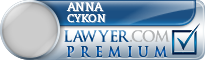 Anna L. Cykon  Lawyer Badge