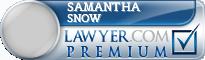 Samantha Snow  Lawyer Badge