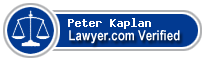Peter R Kaplan  Lawyer Badge