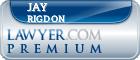 Jay Alden Rigdon  Lawyer Badge