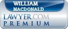 William P. MacDonald  Lawyer Badge