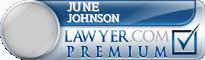 June Johnson  Lawyer Badge