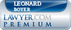 Leonard Boyer  Lawyer Badge