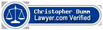 Christopher Dumm  Lawyer Badge