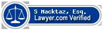 S Joshua Macktaz  Lawyer Badge