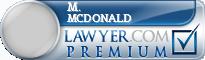 M. Andrew Mcdonald  Lawyer Badge
