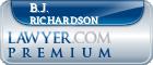 B.J. Richardson  Lawyer Badge