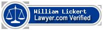 William Lickert  Lawyer Badge