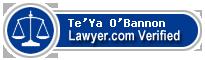 Te'Ya O'Bannon  Lawyer Badge
