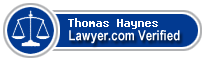 Thomas Haynes  Lawyer Badge