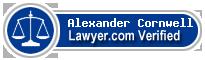 Alexander James Cornwell  Lawyer Badge