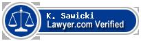 K. Michael Sawicki  Lawyer Badge