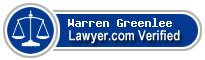 Warren Greenlee  Lawyer Badge