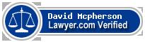 David A. Mcpherson  Lawyer Badge