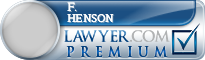 F. Ewin Henson  Lawyer Badge