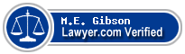 M.E. Gibson  Lawyer Badge