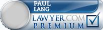 Paul R. Lang  Lawyer Badge