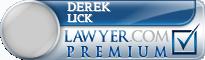 Derek D. Lick  Lawyer Badge