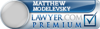 Matthew Modelevsky  Lawyer Badge