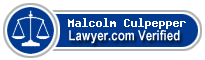 Malcolm Culpepper  Lawyer Badge