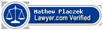 Mathew W. Placzek  Lawyer Badge