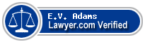 E.V. Adams  Lawyer Badge