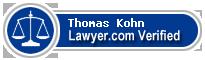 Thomas D. Kohn  Lawyer Badge