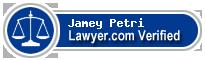 Jamey E. Petri  Lawyer Badge