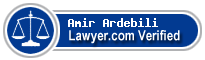 Amir Ardebili  Lawyer Badge