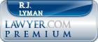 R.J. Lyman  Lawyer Badge