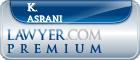 K. Calvin Asrani  Lawyer Badge