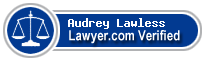 Audrey Lawless  Lawyer Badge