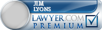 Jim Lyons  Lawyer Badge
