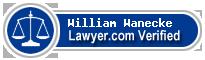 William J. Wanecke  Lawyer Badge