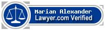 Marian Sykes Alexander  Lawyer Badge