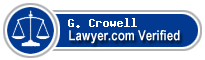 G. Brad Crowell  Lawyer Badge