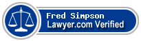 Fred Simpson  Lawyer Badge