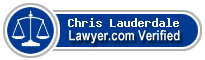 Chris Lauderdale  Lawyer Badge