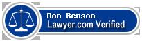 Don Benson  Lawyer Badge