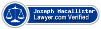 Joseph W. Macallister  Lawyer Badge