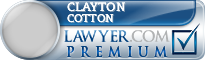 Clayton W. Cotton  Lawyer Badge