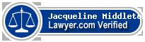 Jacqueline L. Middleton  Lawyer Badge