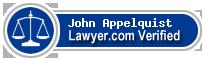 John F. Appelquist  Lawyer Badge