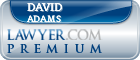 David W. Adams  Lawyer Badge