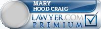 Mary Agnes Hood Craig  Lawyer Badge